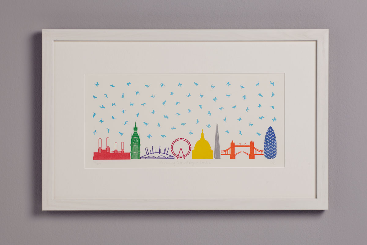 Limited Edition Letterpress Print, London Landmarks