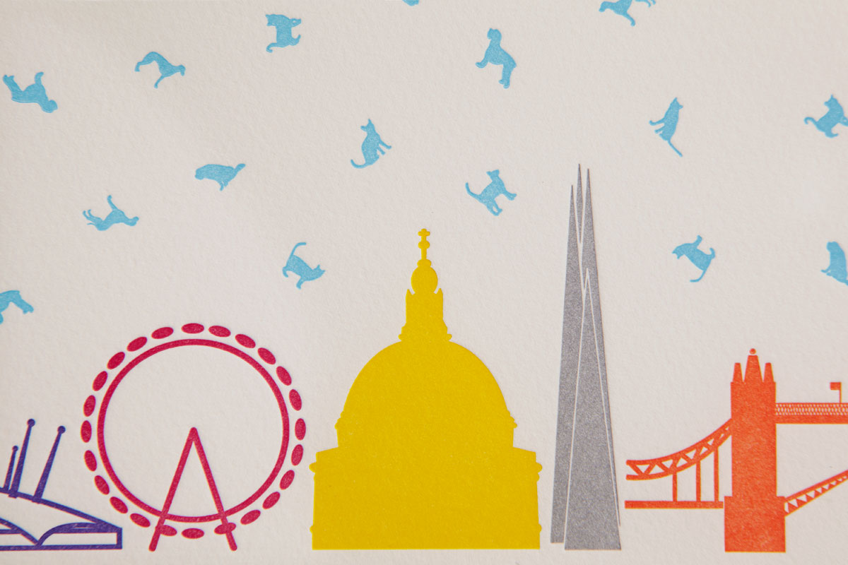 St Pauls, The Shard, London Eye Letterpress