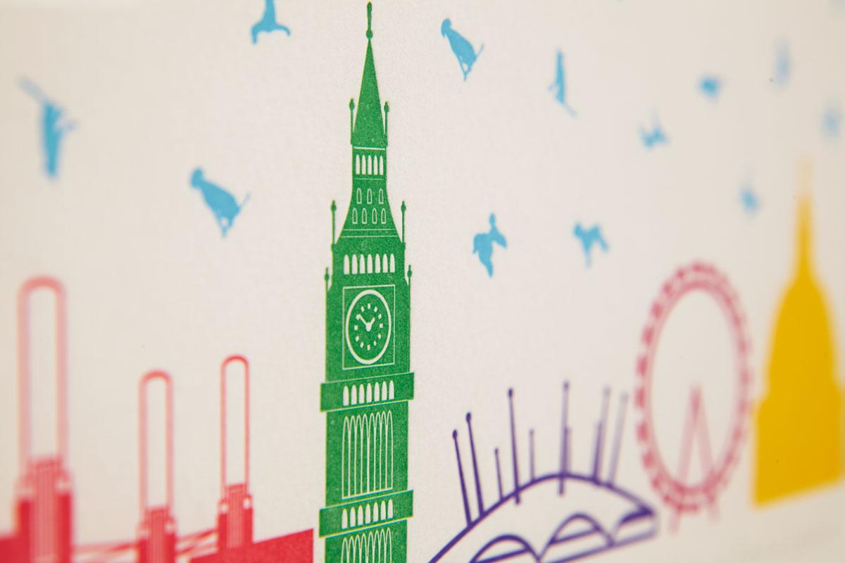 Big Ben Letterpress Print
