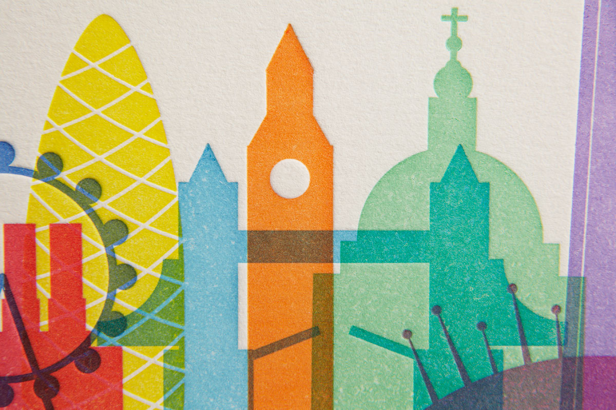 Close-up - Limited Edition Letterpress Print, London Landmarks