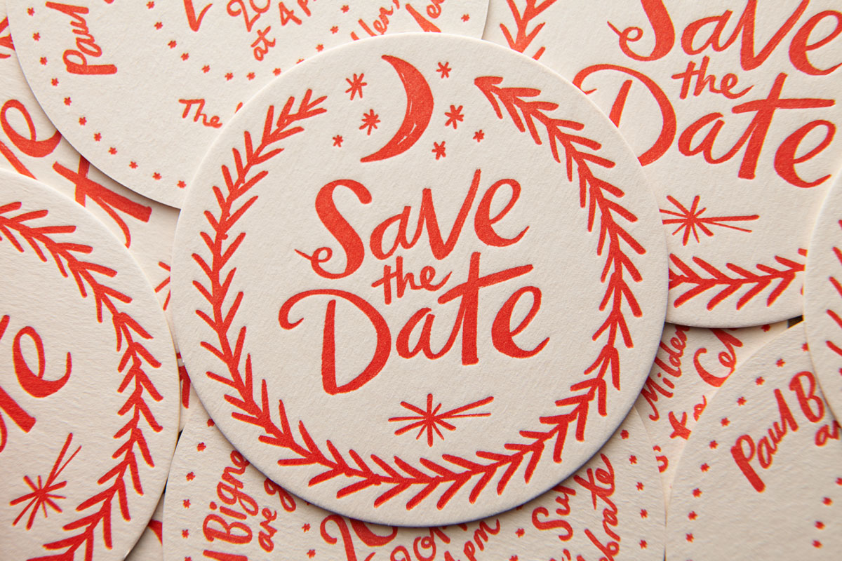 Save the Date Beer Mat / Coaster