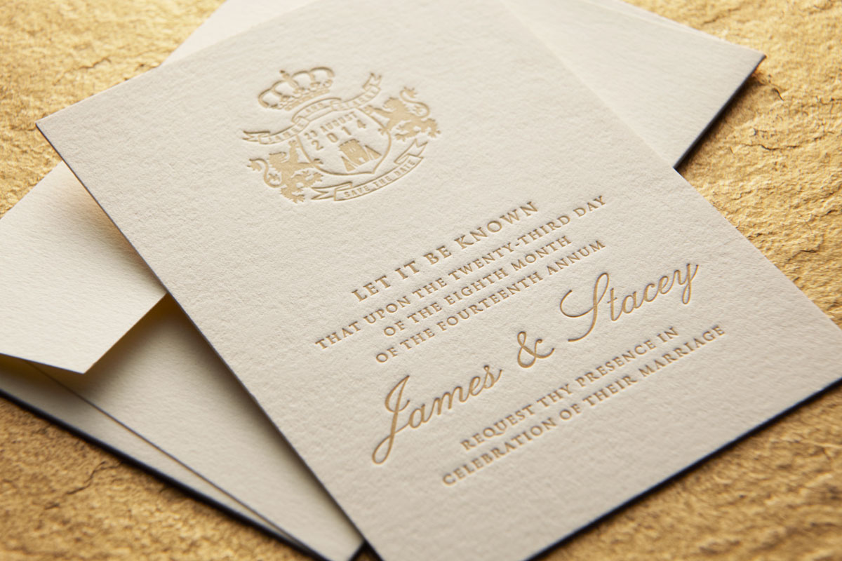 Let it be known - Letterpress Save the Date