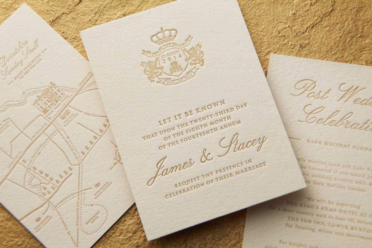 Bespoke Letterpress Wedding Stationery