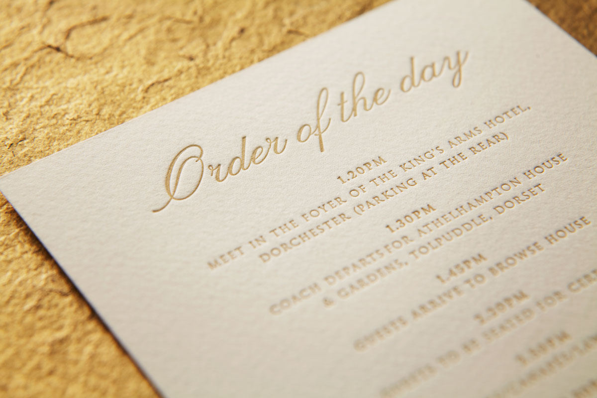 Letterpress - Order of the day