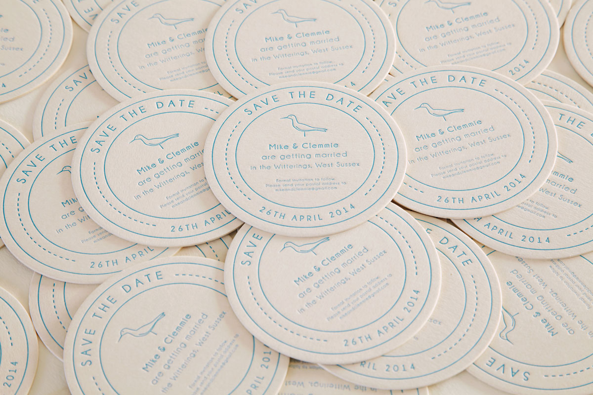 Bespoke Save the Date Beer Mat