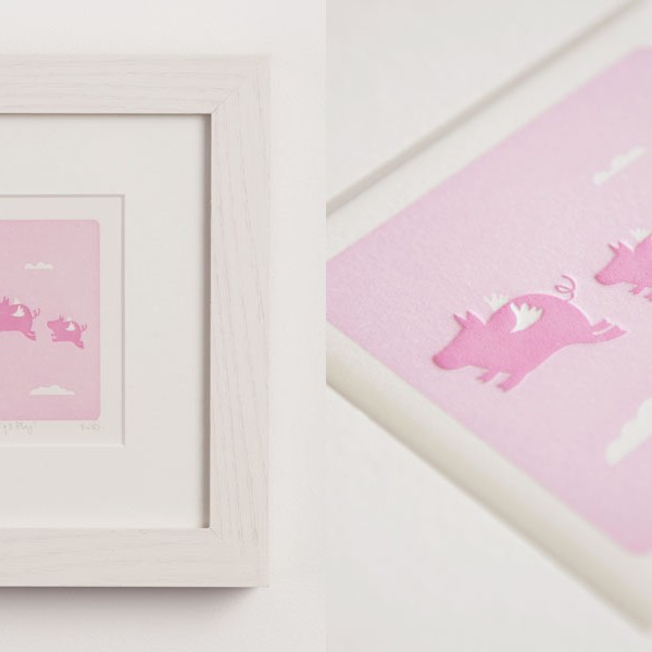 When Pigs Fly - Letterpress Print