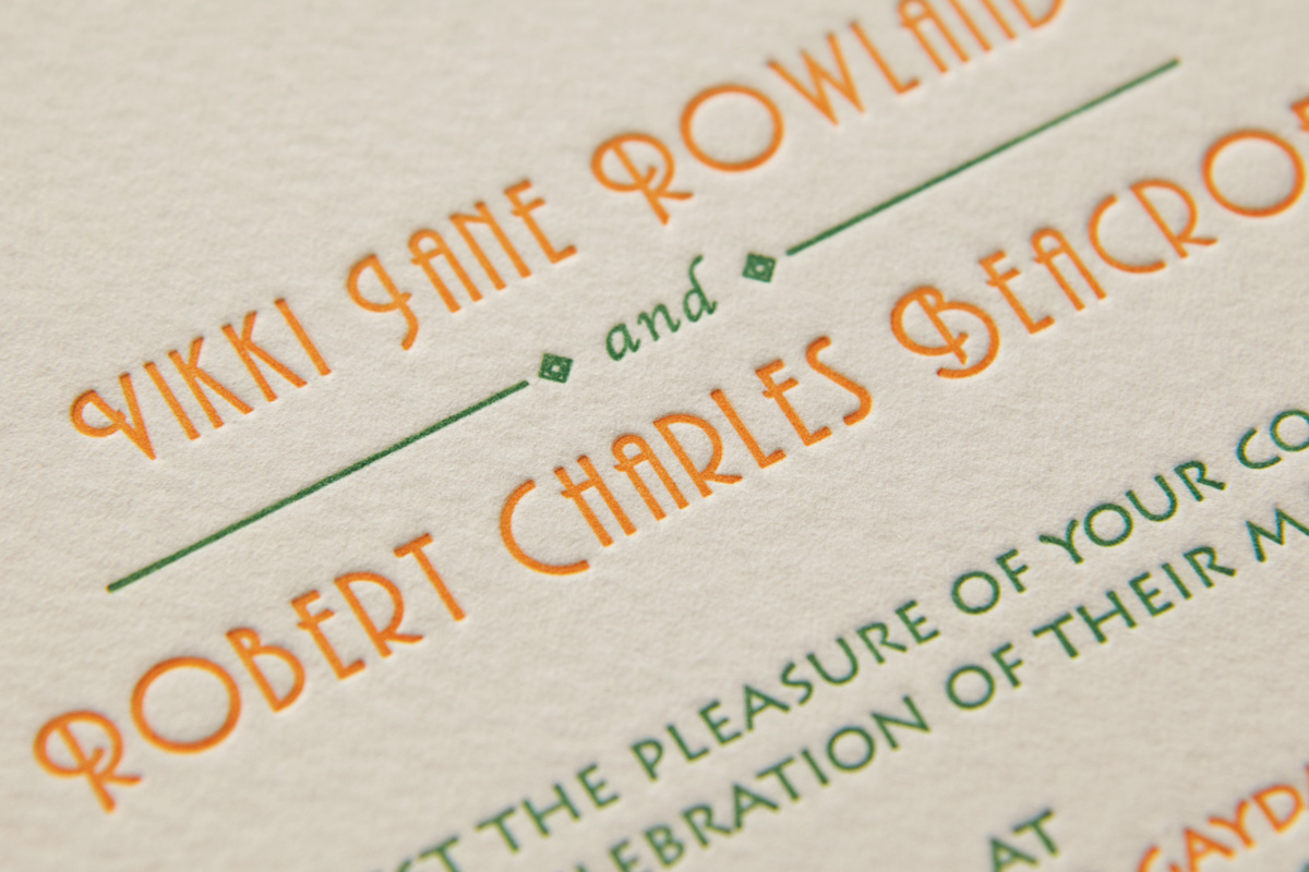 French wedding, Domaine Gayda, Letterpress Wedding Stationery