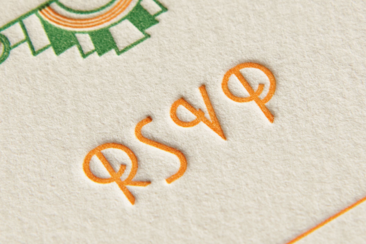 Close Up - Letterpress RSVP