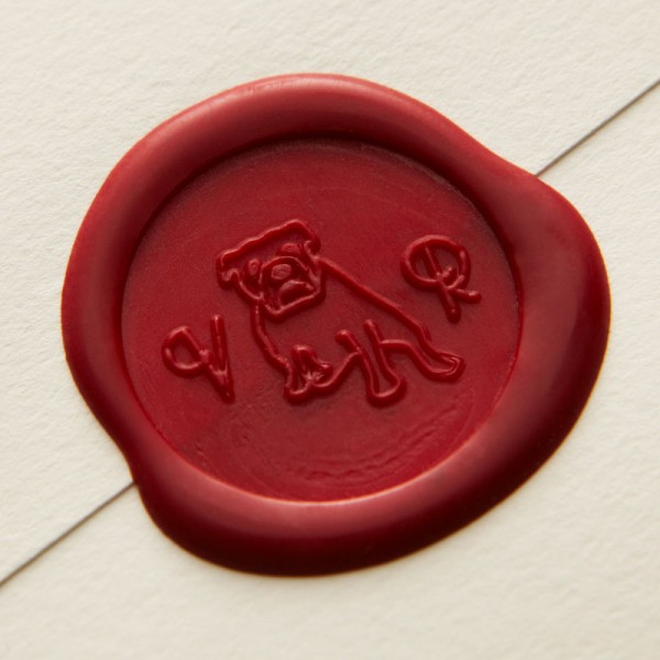 Bespoke Letterpress Wedding Invitation - Vikki & Rob Wax Seal Stamp