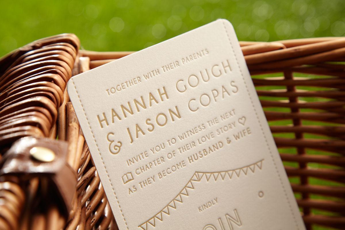 Letterpress Bunting, Hannah & Jason