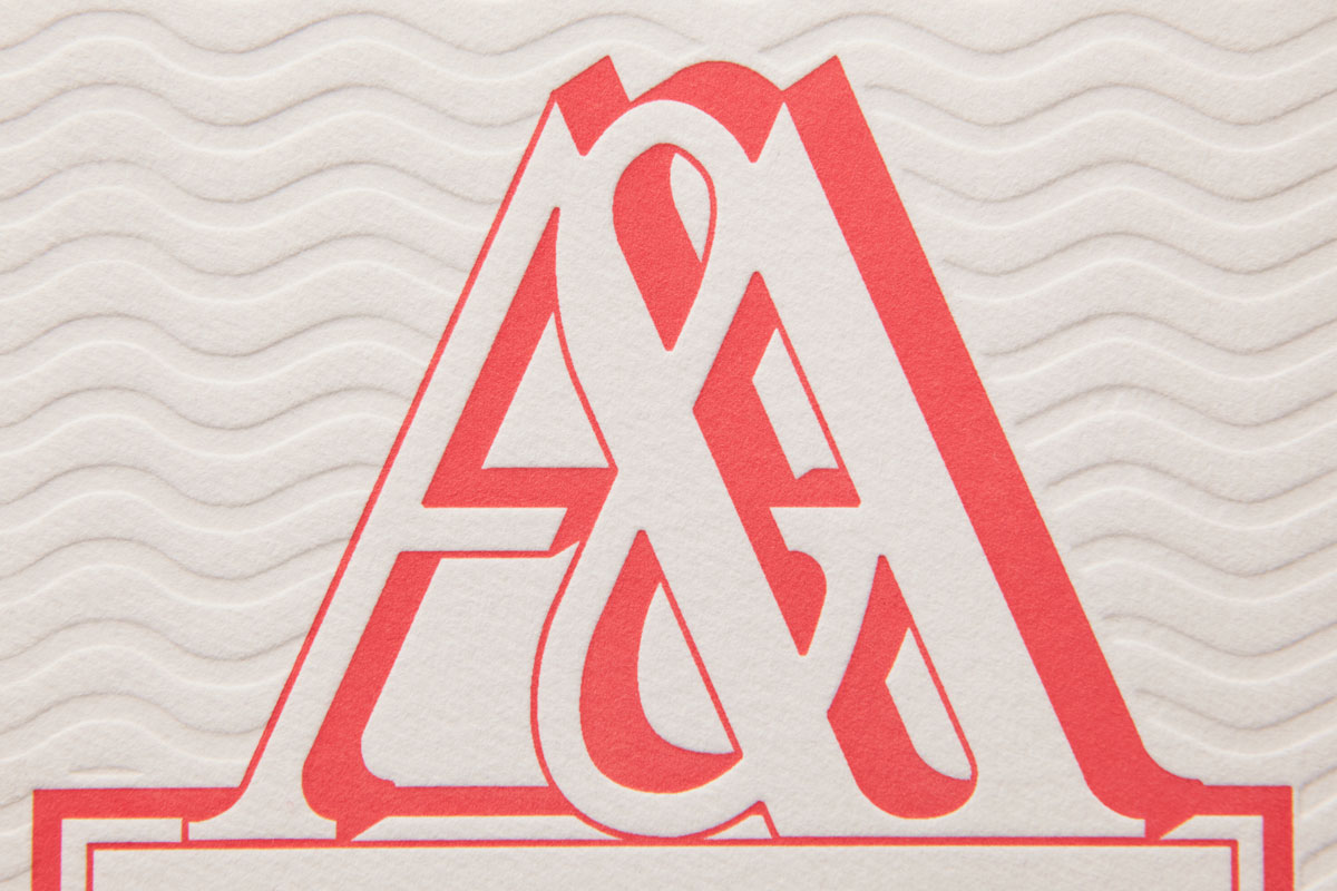 Letterpressed Monogram, Blind De-bossing