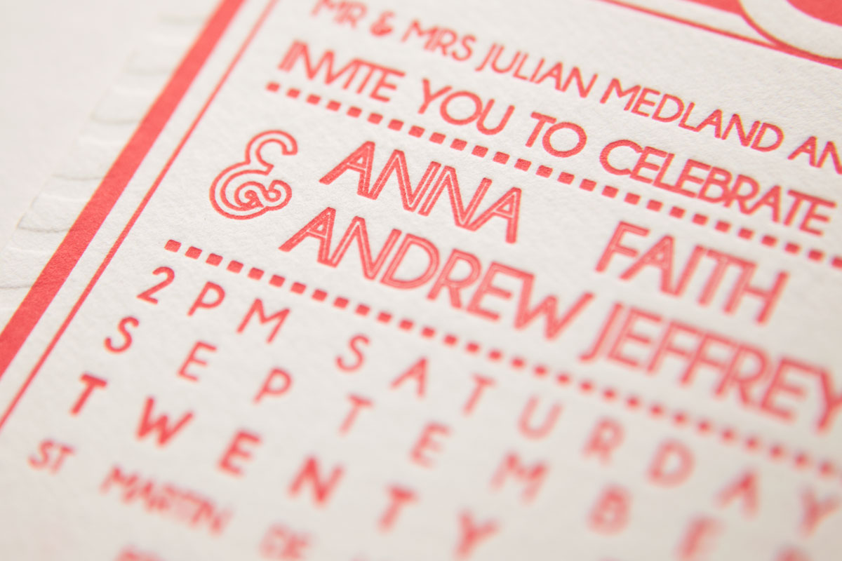 Close Up - Letterpress Invitation