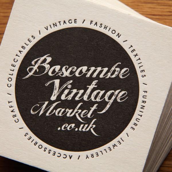 Letterpress Beer Mat Boscombe Vintage Market