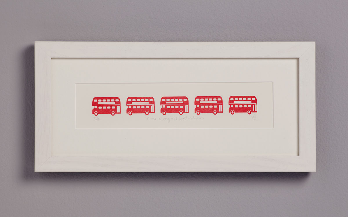Letterpress London Buses