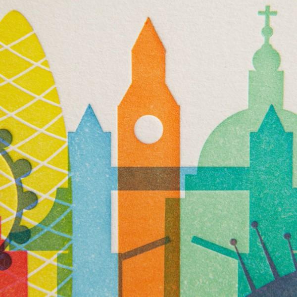 London Letterpress Print