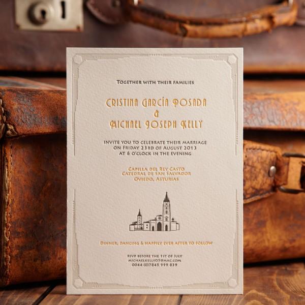 Bespoke Letterpress Wedding Invitation